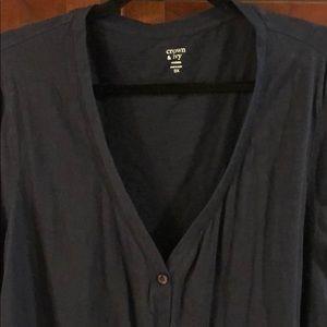 Crown & Ivy navy cardigan